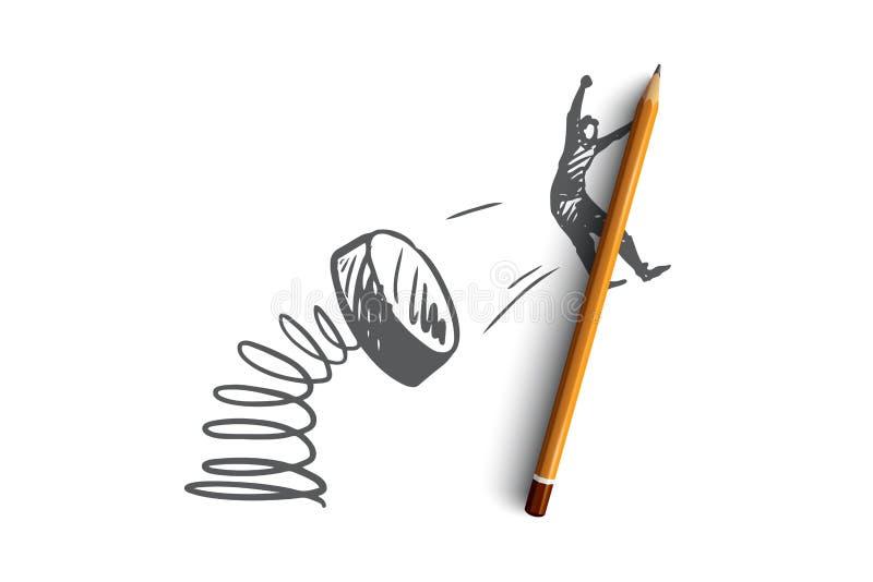 促进,营销,广告,宣布,提供概念 手拉的被隔绝的传染媒介 库存例证