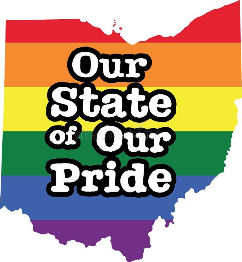 俄亥俄同性恋自豪日传染媒介状态标志 皇族释放例证