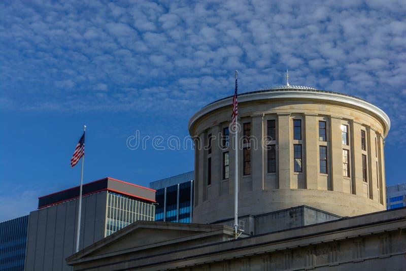 俄亥俄州议会议场状态国会大厦大厦在一个晴天 库存图片