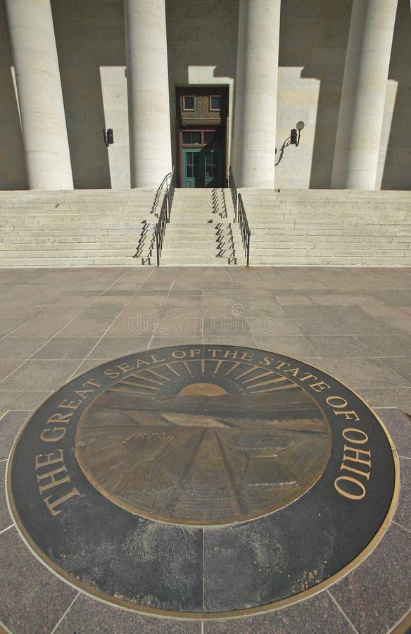 俄亥俄的状态国会大厦 免版税图库摄影