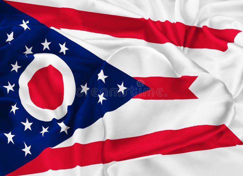俄亥俄的状态标志 向量例证