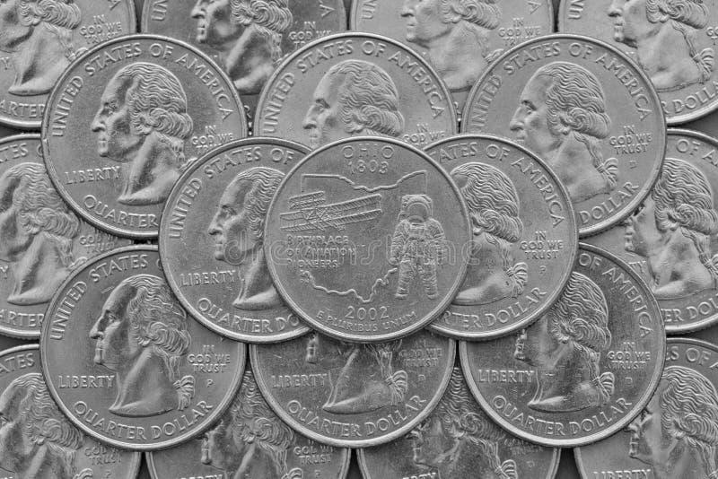 俄亥俄美国的状态和硬币 图库摄影