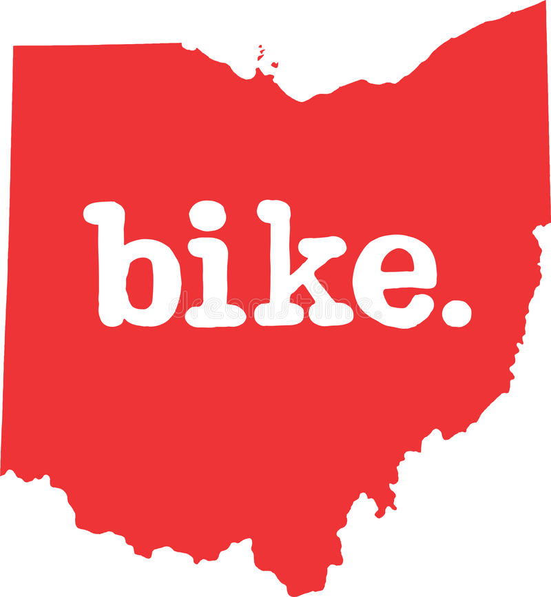 俄亥俄自行车状态向量标志 库存例证