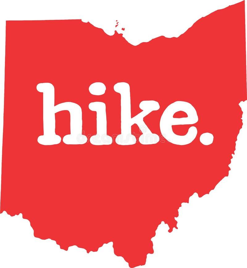 俄亥俄远足状态向量标志 向量例证