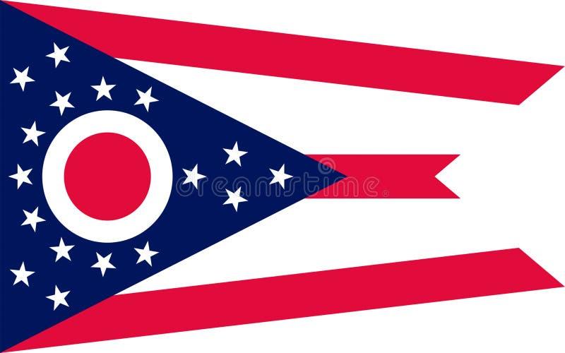 俄亥俄,美国的旗子 库存图片