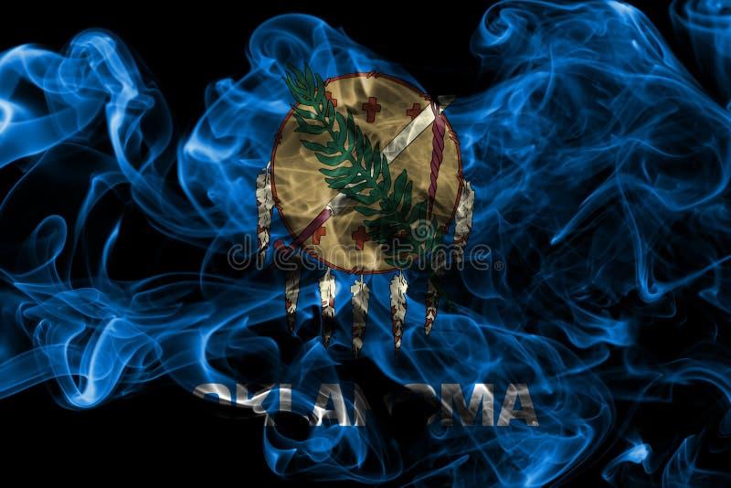 俄克拉何马状态烟旗子,美利坚合众国 图库摄影