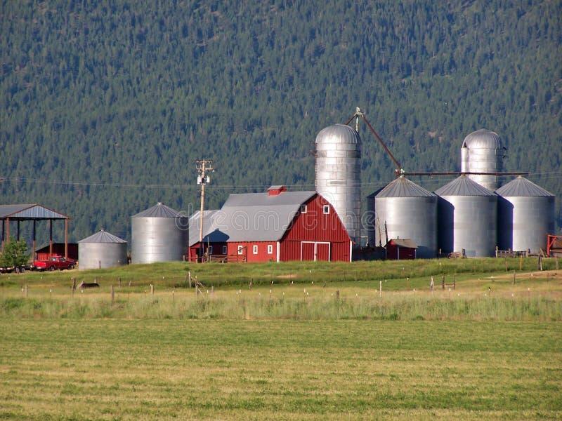 俄勒冈大农场风景视图 免版税库存图片