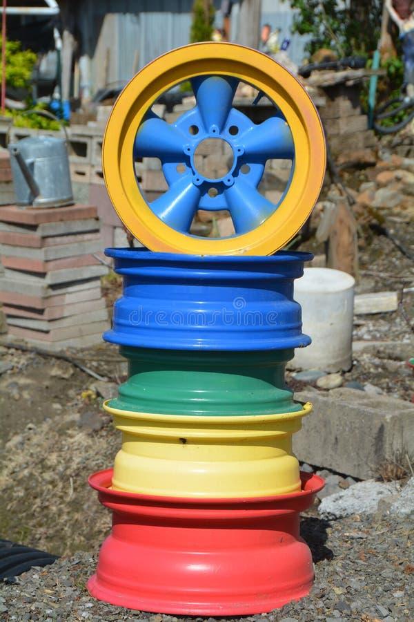 俄勒冈州威拉梅特谷的彩色车轮 库存图片