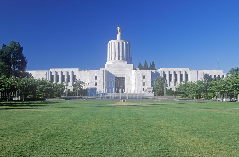俄勒冈的状态国会大厦 库存照片