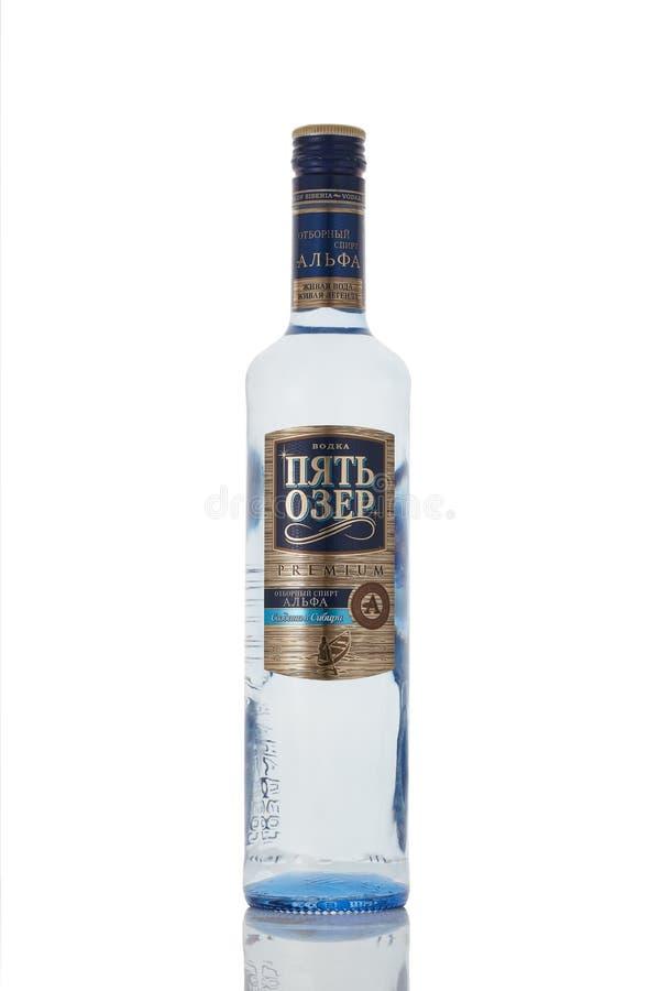 俄国伏特加酒 免版税图库摄影
