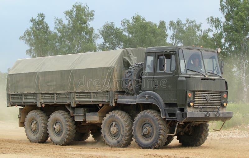 俄国军用卡车 免版税图库摄影