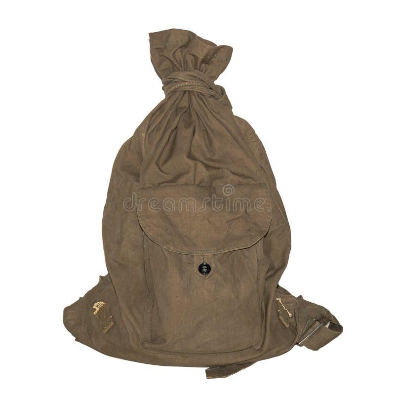 俄国军队行李袋老类型 库存照片