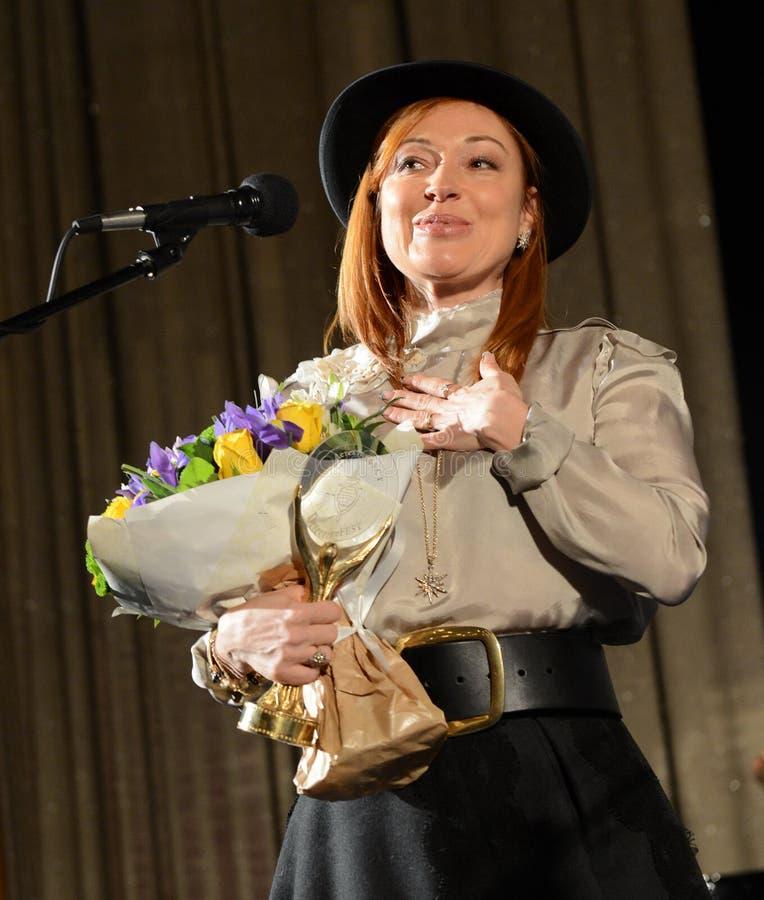 俄国剧院和女演员维多利亚Tarasova 免版税库存图片