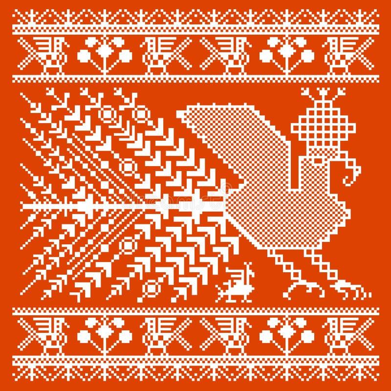 俄国和乌克兰民间刺绣,样式 皇族释放例证