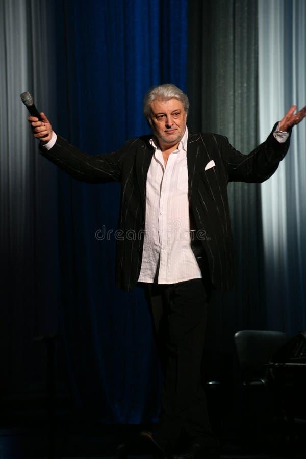 俄国和苏联音乐,流行音乐神象,尊守的人,百万富翁,作者,歌手,作曲家维亚切斯拉夫多勃雷宁星  免版税库存照片