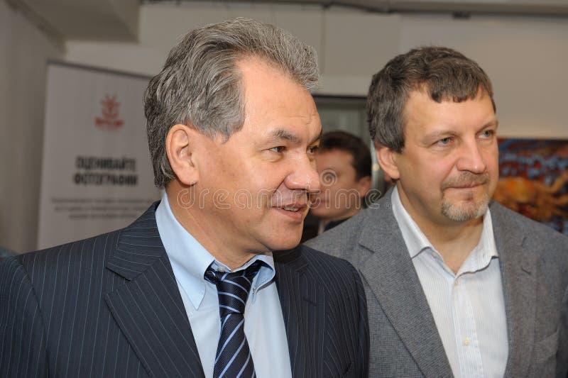 俄国国防部长全国地理照片比赛的绍伊古谢尔盖 免版税库存图片