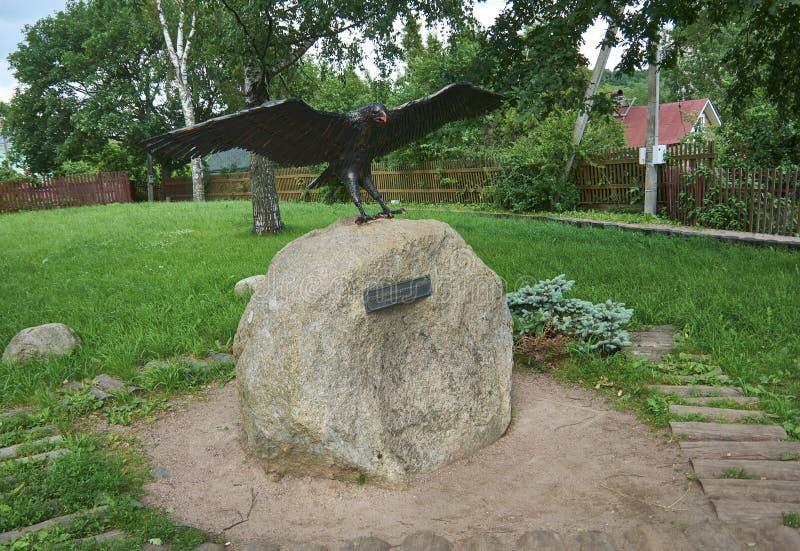 俄国堡垒老拉多加-纪念碑-奥勒尔号鲁里克 库存照片