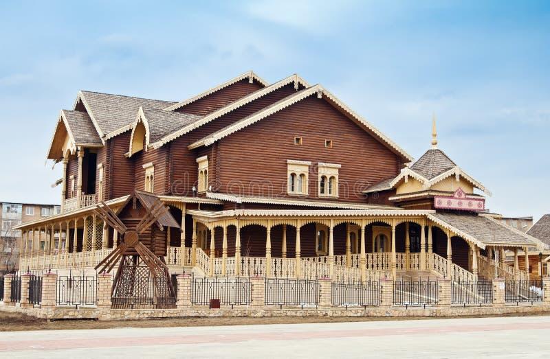 俄国复合,全国村庄 奥伦堡 免版税图库摄影