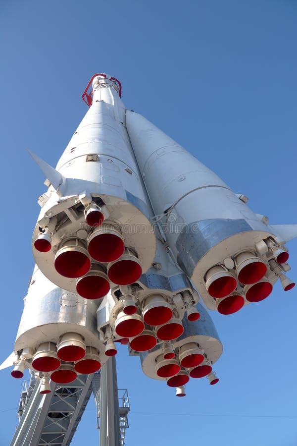 俄国太空飞船沃斯托克在莫斯科 库存图片