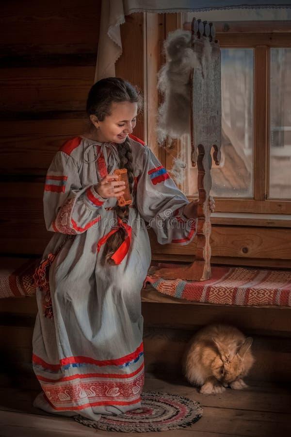 俄国女孩 库存照片