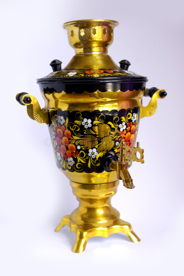 俄国式茶炊 图库摄影
