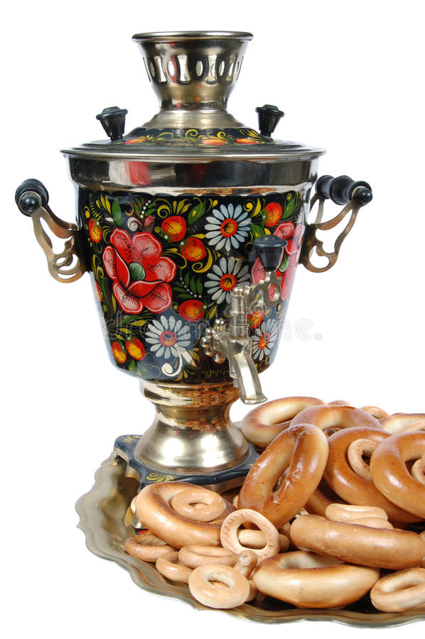 俄国式茶炊 免版税图库摄影