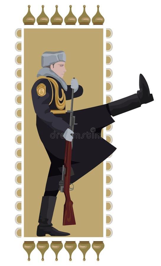 俄国战士 免版税库存图片
