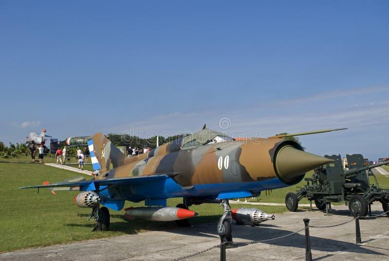 俄国战斗机,哈瓦那,古巴 免版税库存照片