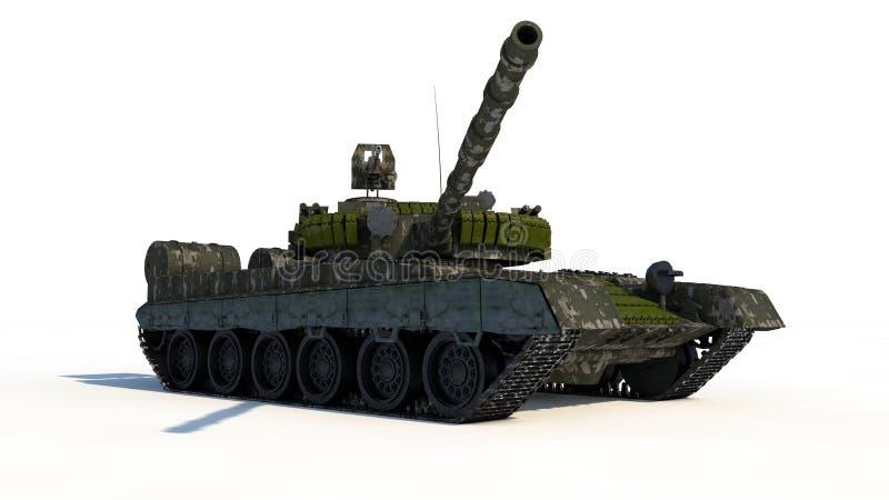 俄国战斗的坦克 向量例证