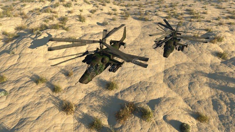俄国战斗的直升机 皇族释放例证