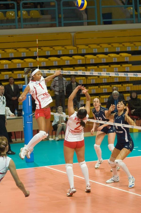 俄国排球妇女 免版税库存照片