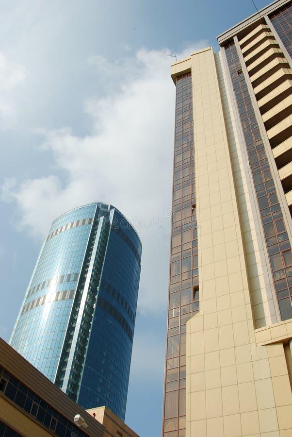 俄国摩天大楼yekaterinburg 库存照片