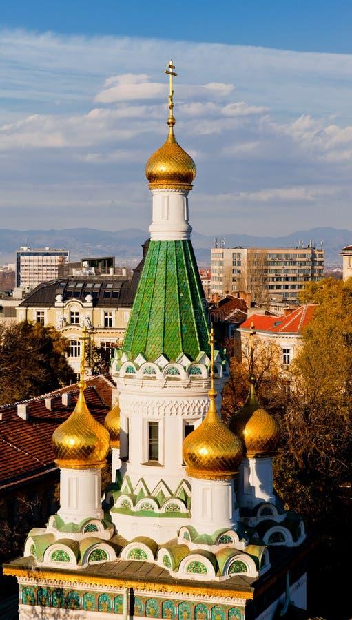 俄国教会圣尼古拉斯,索非亚,保加利亚 免版税库存照片