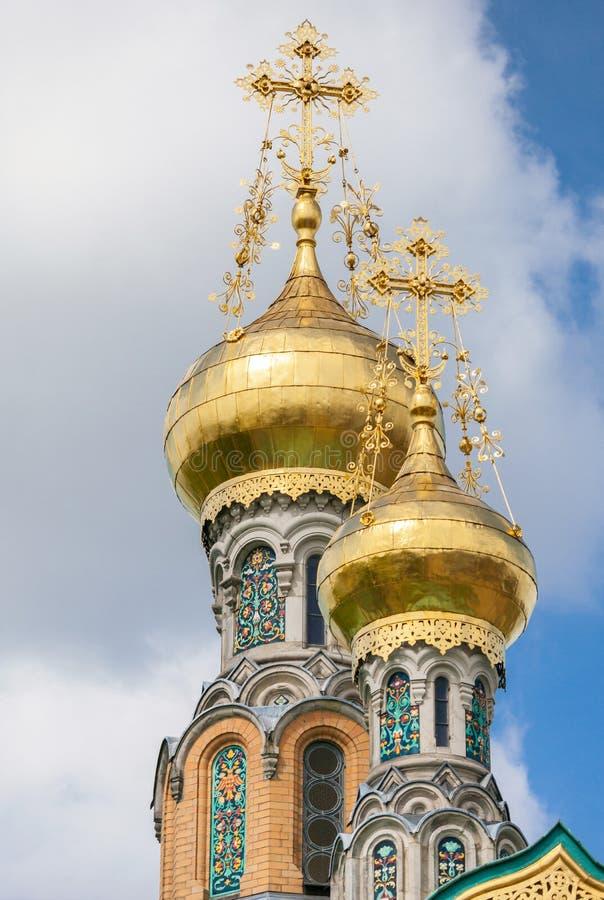 俄国教堂 免版税库存照片