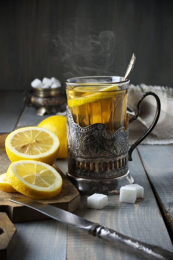 俄国样式茶 免版税库存图片