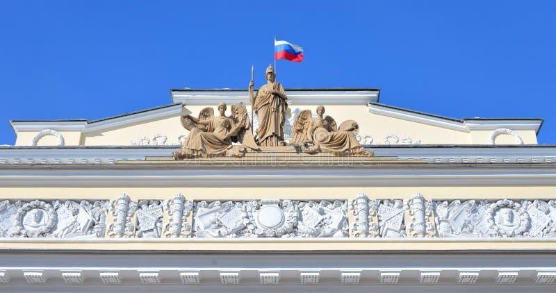 俄国民族志学博物馆的大厦的片段 库存图片