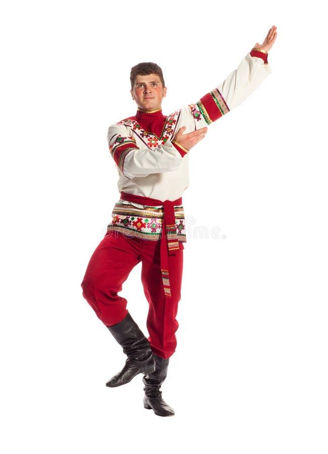 俄国民间舞蹈 库存照片