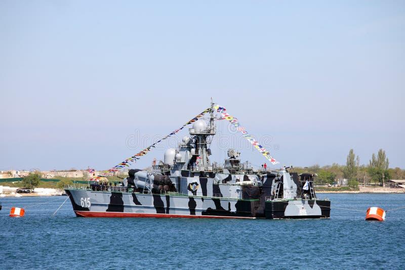 俄国海军Bora气垫船  库存图片