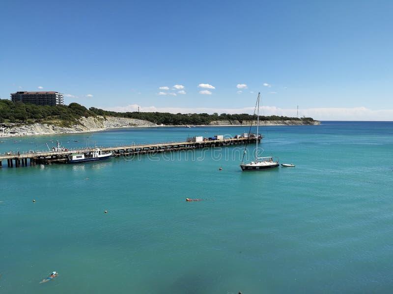 俄国海岸Gelendzhik黑海高加索克拉斯诺达尔地区 库存照片