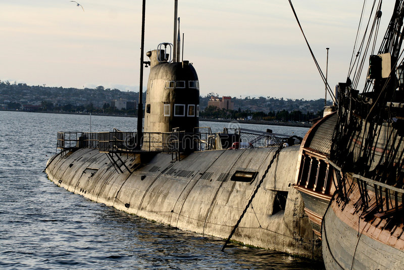俄国潜水艇 免版税库存照片