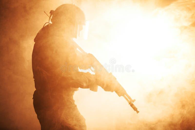 俄国特种部队操作员 免版税库存图片