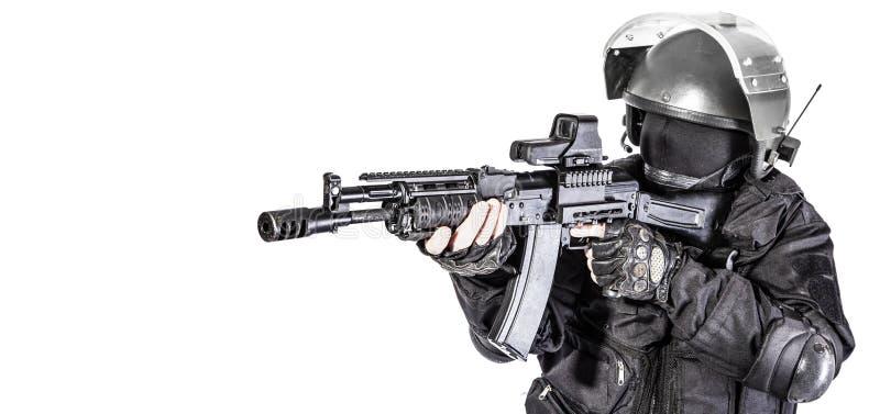 俄国特种部队 免版税图库摄影