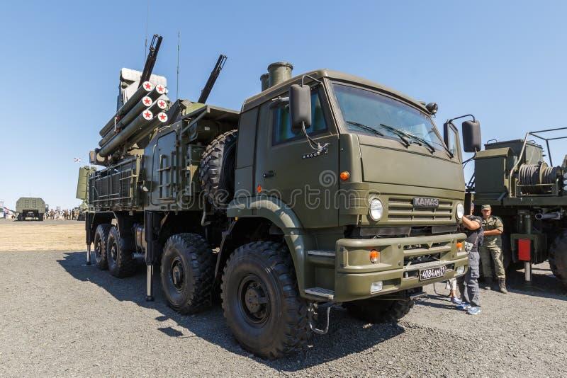 """俄国现代反航空器,地对空复合体""""Pantsir-S1"""" 免版税库存图片"""