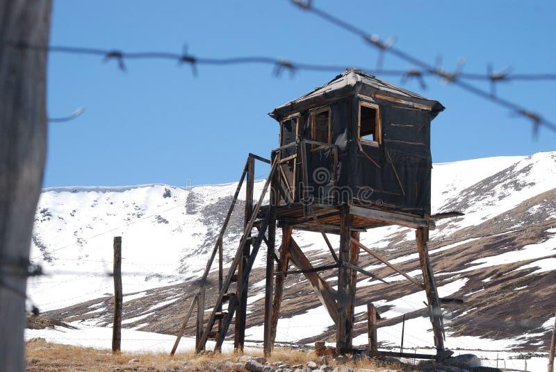 俄国监狱,监狱, altai,铁丝网 库存照片