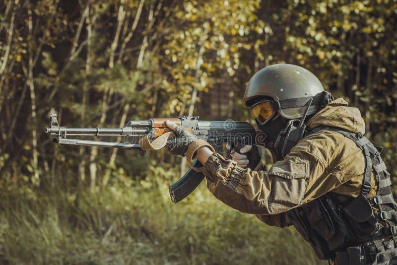 俄国警察特种部队 免版税库存照片