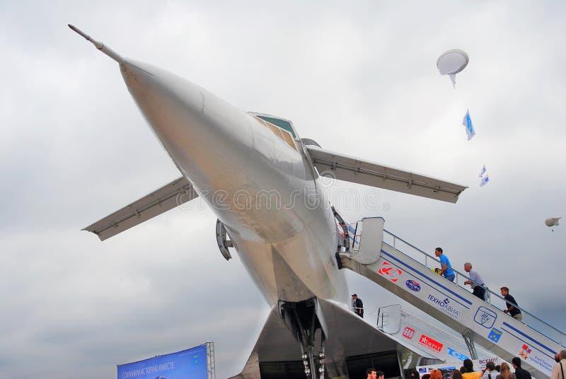 俄国超音速飞机图波列夫Tu144 免版税图库摄影