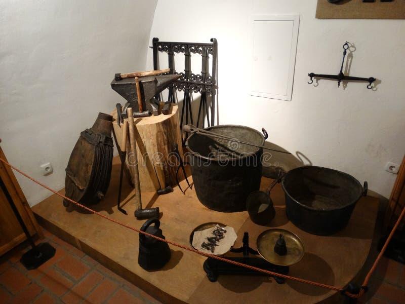 俄国铁匠工具  库存照片