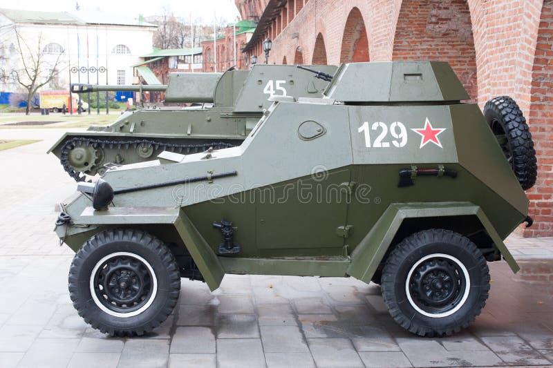 俄国防弹车 库存照片