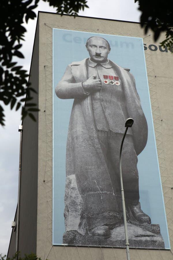 俄国总统作为约瑟夫打扮的弗拉基米尔・普京斯大林 免版税库存照片