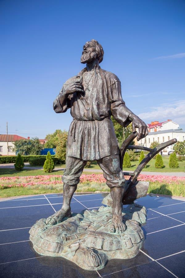 俄国 坦波夫 纪念碑tambovskiy muzhik 库存照片